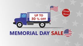 Memorial Day sale banner template design Stock Photos