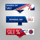 Memorial day sale banners. Stock Photos