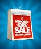 Memorial day sale calendar poster Stock Image