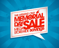 Memorial day sale design. Stock Photo