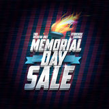Memorial day sale design, storewide savings this weekend Royalty Free Stock Photo