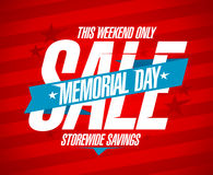 Memorial day sale design. Royalty Free Stock Photography