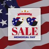 Memorial Day Sale Promotion Banner Background Design Royalty Free Stock Photography