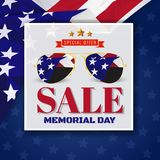 Memorial Day Sale Promotion Banner Background Design Royalty Free Stock Photo