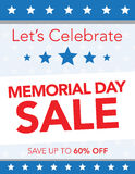 Memorial Day Sale Royalty Free Stock Photos
