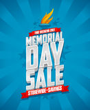 Memorial day sale, storewide savings. Stock Photo