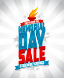 Memorial day sale storewide savings design. Stock Images