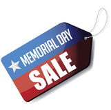 Memorial Day sale tag EPS 10 vector. Royalty free stock illustration. For greeting card, ad, promotion, poster, flier, blog, article, social media or marketing Stock Photography