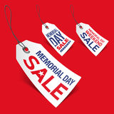 Memorial Day sale tags Royalty Free Stock Photos