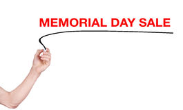 Memorial Day Sale word write on white background