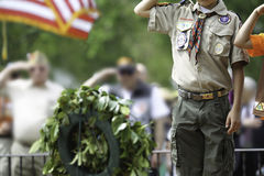 Memorial Day salutera arkivbild