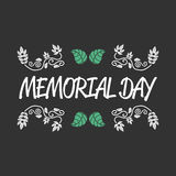 Memorial day sign Royalty Free Stock Photography