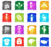 Memorial day simply icons Royalty Free Stock Images