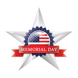 Memorial day star badge Stock Photos