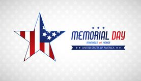 Memorial day illustration with american flag. Vector background Royalty Free Stock Photos