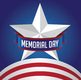 Memorial Day star and stripes EPS 10 vector Stock Photography
