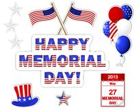 Memorial Day stickers. Stock Photography