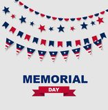 Memorial Day. Stock illustration for greeting card, ad, promotion, poster, flyer, blog, article, marketing, retail shop, brochure,. Memorial Day. Stock Royalty Free Stock Image