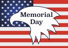 Memorial Day sur Eagle américain Images libres de droits