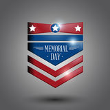 Memorial day. Symbol gray background.  illustration Stock Image