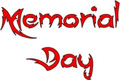 Memorial day text sign illustration Royalty Free Stock Images