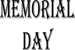 Memorial day text sign illustration Royalty Free Stock Image