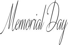 Memorial day text sign illustration Stock Image