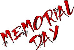 Memorial day text sign illustration Stock Photo