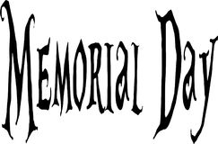 Memorial day text sign illustration Royalty Free Stock Photos