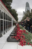 Memorial Day. 20th January is the memorial day in Azerbaijan. People come from all corners of Azerbaijan to remember 1990 when the Soviet Red Army massacred 137 Stock Photos