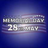 Memorial Day 28th May stock illustrationer