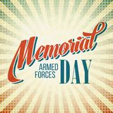 Memorial Day. Typographic card with the American Royalty Free Stock Images