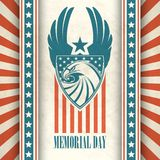 Memorial Day. Typographic card with the American Royalty Free Stock Image