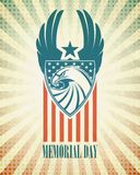 Memorial Day. Typographic card with the American Stock Image
