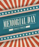 Memorial Day. Typographic card with the American Royalty Free Stock Photo