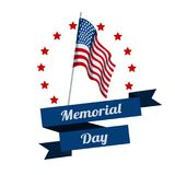 Memorial Day. Typography design layout for USA Memorial Day events, sales, promotion vector illustrator.  Royalty Free Stock Photos