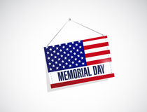 memorial day us hanging flag Stock Images