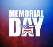 Memorial day Us holiday sign over a colorful red and blue stock photos