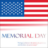 Memorial Day. US national holiday Stock Image