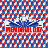 Memorial day us squares shape pattern background Stock Photography
