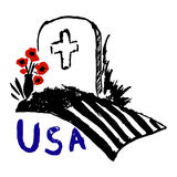 Memorial day USA freehand drawing Stock Image