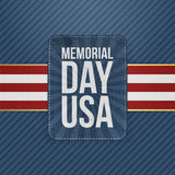 Memorial Day Usa greeting Sign Stock Image