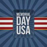 Memorial Day Usa Holiday Sign Royalty Free Stock Photo