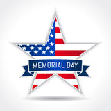 Memorial day USA poster. Memorial Day with star in national flag colors Stock Image