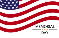 Memorial day. vector background with american symbolic. royalty free illustration