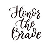 Memorial day vector hand lettering. American national holiday quote. Stock Photos