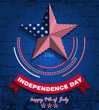 Memorial day2. Vector illustration. Memorial Day. Star in national flag colors Stock Image