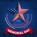 Memorial day2. Vector illustration. Memorial Day. Star in national flag colors Royalty Free Stock Photos
