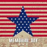 Memorial day. Vector illustration. Memorial Day. Star in national flag colors Stock Images