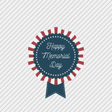 Memorial Day vector patriotic Emblem with Text Stock Photo